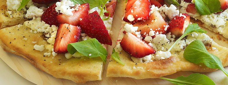 Strawberry Month Favorite Recipes | Strawberry Goat Cheese Pizza