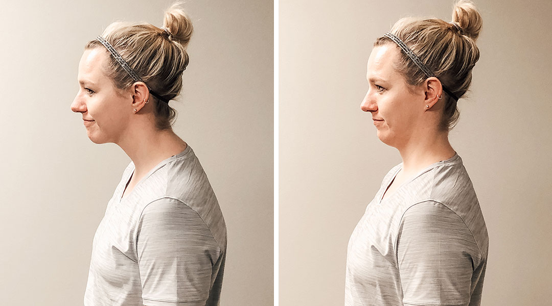 Chin Tucks to Improve Sitting Posture While Working from Home